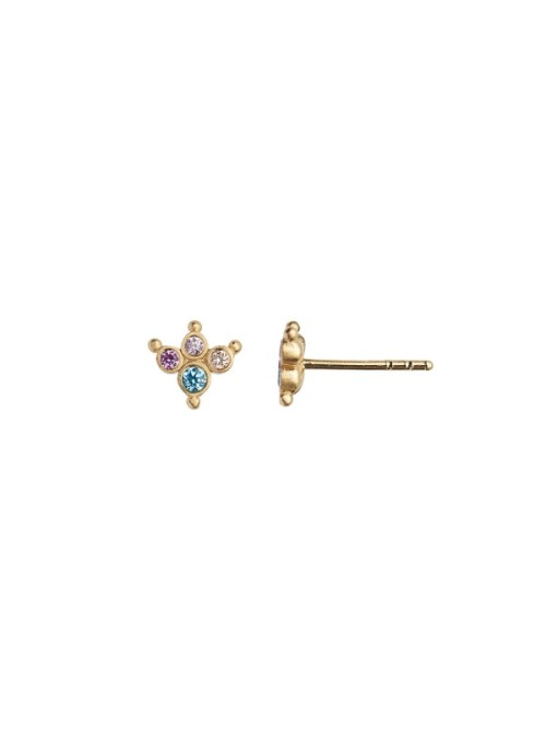Stine A Petit Candy Fleur Earring Pacific Blue Sorbet