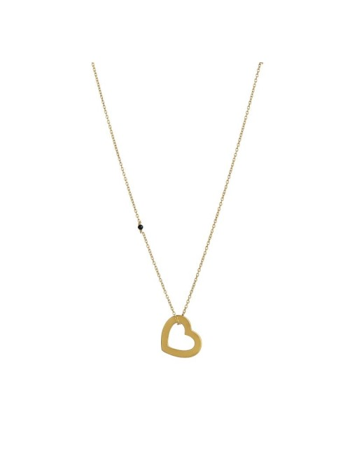 Stine A Open love heart pendant gold