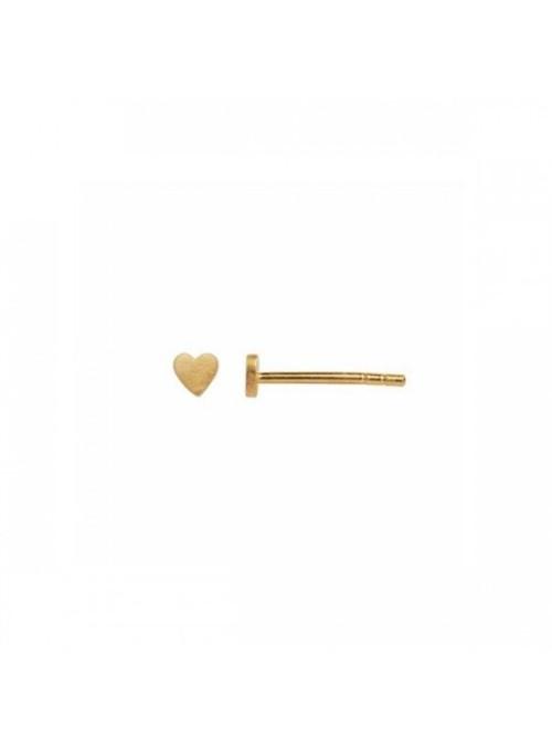 Stine A Petit love heart earring gold