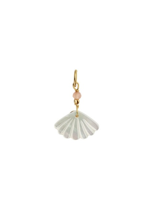 Stine A White seashell pendant gold/peach