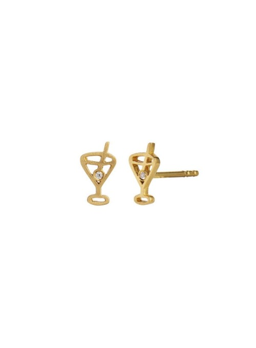 Stine A Tres petit cocktail earring gold