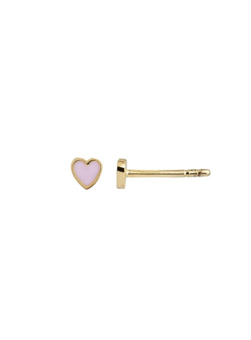 Stine A Petit Love Heart Light Pink Enamel gold