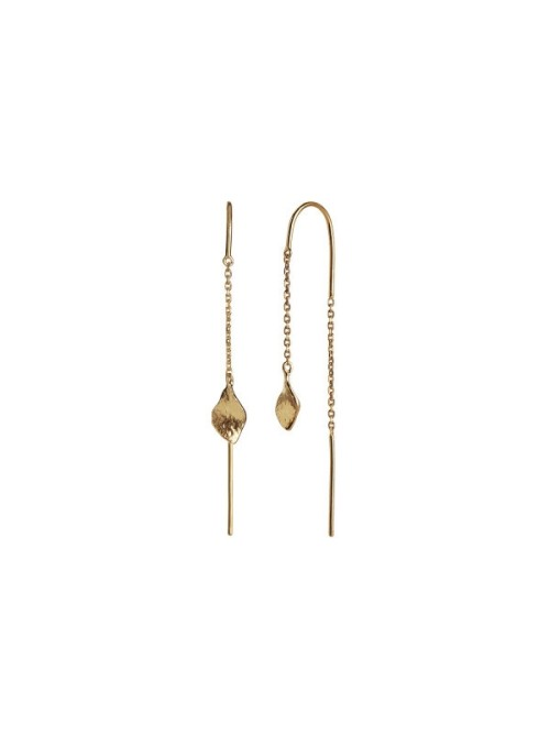 Stine A Petit ile de L'amour double chain earring gold