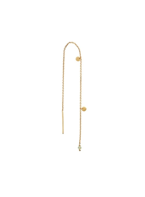 Stine A Dangling Petit Coin And Stone earring gold - peridot