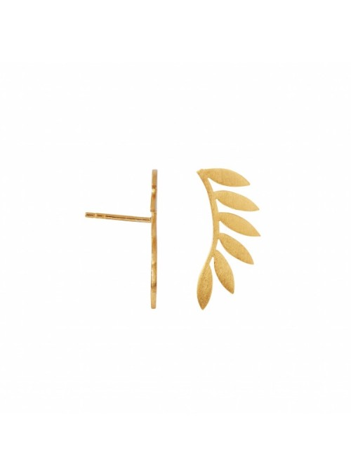Stine A Six Leaves earring piece left gold