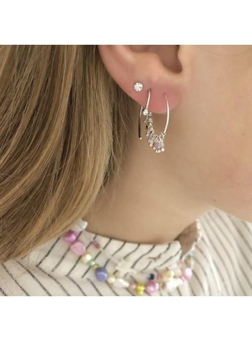 Stine A Tres petit etoile earring silver