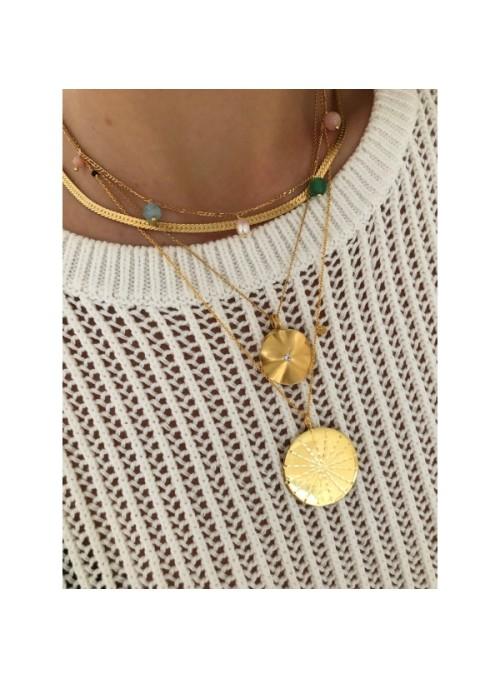 Stine A Short snake necklace gold