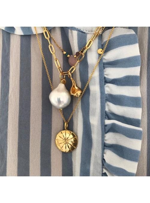 Stine A Big chunky pendant chain gold