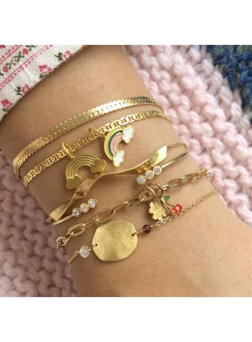 Stine A Snake bracelet gold