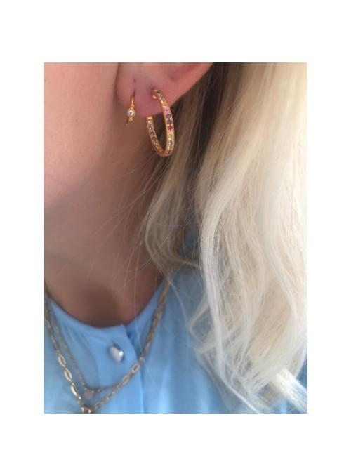 Stine A Petit Bon-bon White Zircon Earring