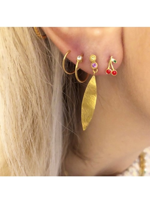 Stine A Big Dot Curl Earring Right Gold