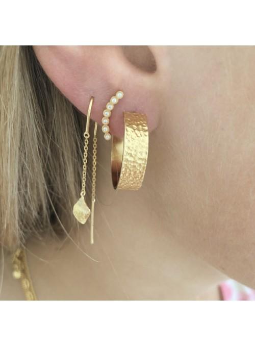 Stine A Petit ile de L'amour double chain earring gold
