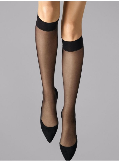 31206 Sort Satin touch 20 knee Wolford