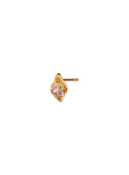 Stine A Petit Ile De L'Amour with Stones Earring Gold - Light Pink Sorbet