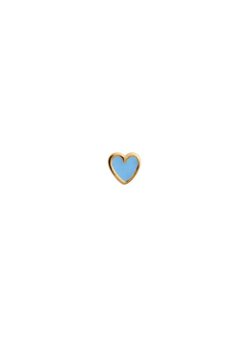 Stine A Petit Love Heart light blue Enamel Gold