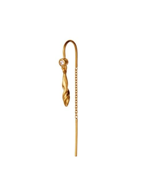 Stine A Dangling petit velvet earring gold w/ chain
