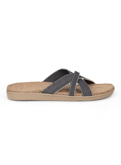 Lovelies Weligama sandal jute sole and woven straps black