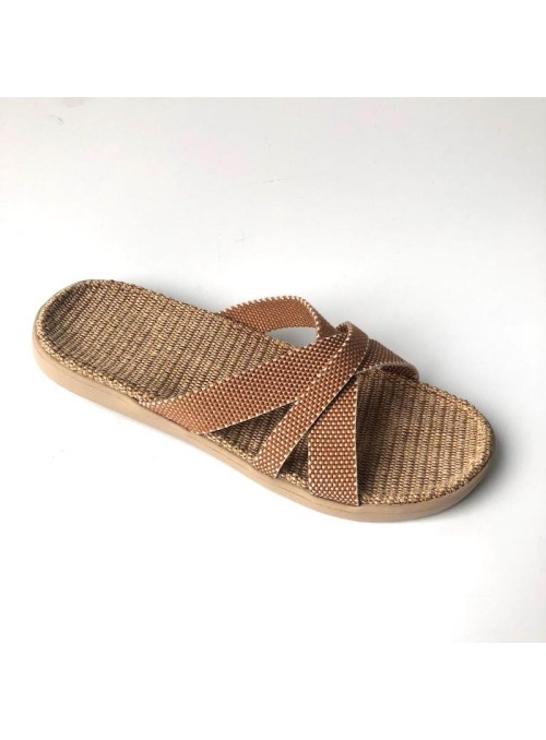Lovelies Weligama sandal jute sole and cotton straps bisquit