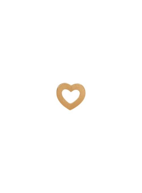 Stine A Petit open love heart earring gold
