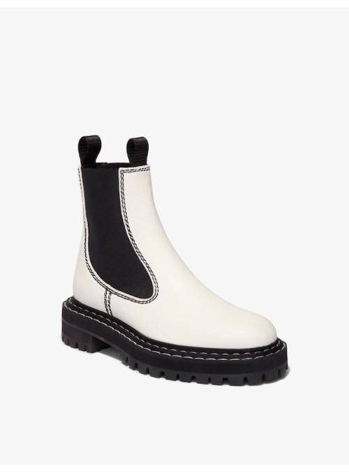 Proenza Schouler Chelsea boots cream