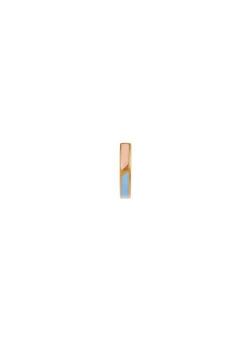 Stine A Petit circus huggie earring blue & pale peach enamel gold