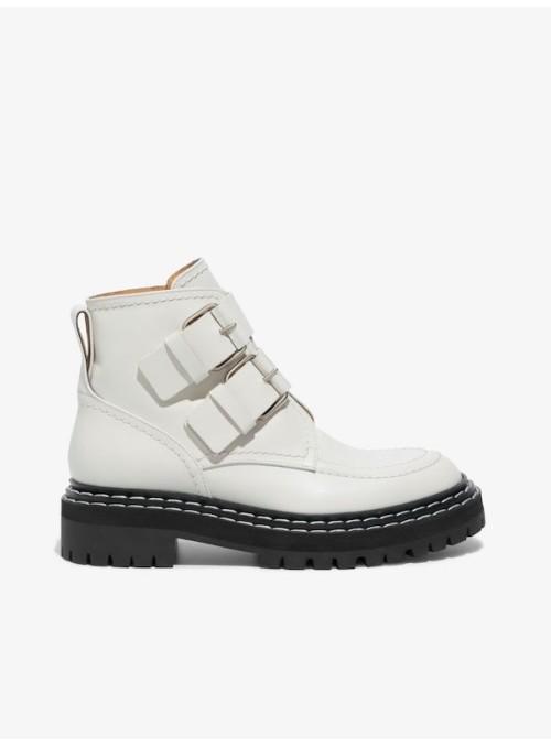Proenza Schouler buckle boot creme