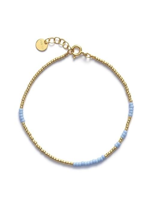 Anni Lu armbånd Asym lys blå